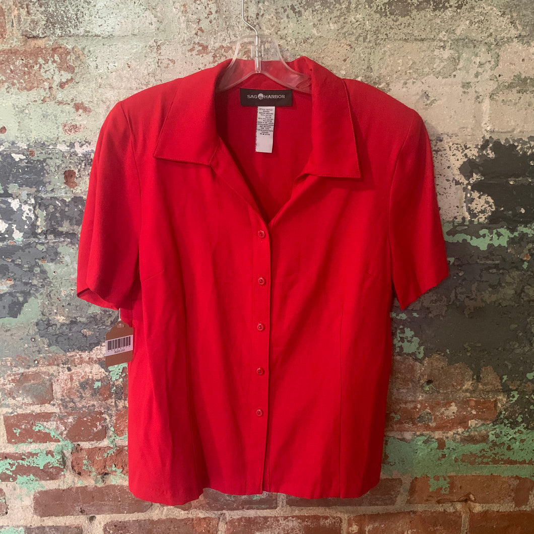 Sag Harbor Red Blouse Size Medium