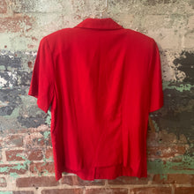 Load image into Gallery viewer, Sag Harbor Red Blouse Size Medium