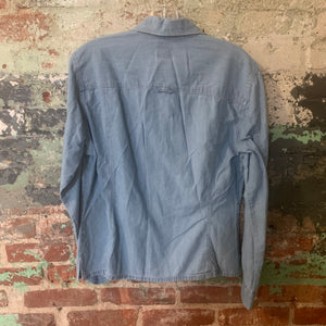Dockers Blue Button Up Size Medium