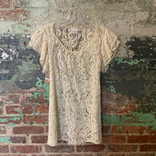 Load image into Gallery viewer, Lola White Lace Top Size Medium
