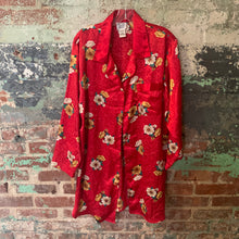 Load image into Gallery viewer, MT Red Floral PJ Top Size Medium
