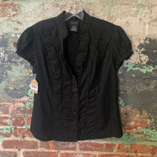 Load image into Gallery viewer, George Black Button Front Blouse Size Medium