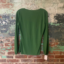 Load image into Gallery viewer, Allison Morgan Green Peasant Top Size Medium