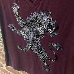 Express Lion Embellished Tee Size Medium