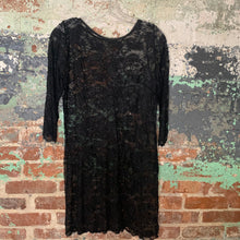 Load image into Gallery viewer, Black Lace Over Dress Size Medium