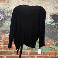 Load image into Gallery viewer, August Silk Black Top Size Large