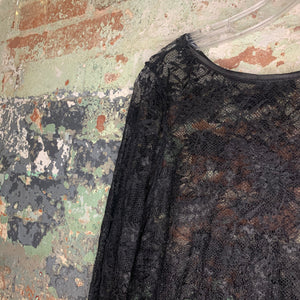 Black Lace Over Dress Size Medium