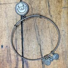 Load image into Gallery viewer, Alex and Ani Silver Colored Heart Charm Bracelet