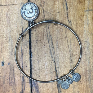 Alex and Ani Silver Colored Heart Charm Bracelet