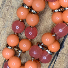 Load image into Gallery viewer, Peach and Pink Bead Stretch Bracelet
