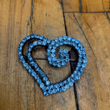 Load image into Gallery viewer, Heart Pin w/ Blue Stone