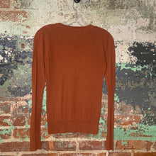 Load image into Gallery viewer, Tex By Max Azria Orange Sweater Crew Neck Size Small