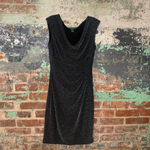 Load image into Gallery viewer, Ralph Lauren Black and Silver Sleeveless Evening Dress Size 6