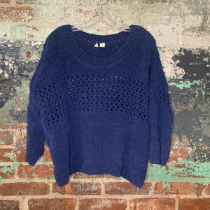 Moth Blue Knit Sweater Size Medium