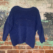Load image into Gallery viewer, Moth Blue Knit Sweater Size Medium