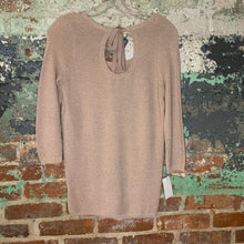 Load image into Gallery viewer, Lauren Conrad Pink Sparkle Sweater Peekaboo Back Size XSmall