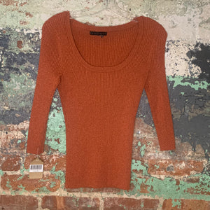 Apostrophe Orange Sweater Size Medium