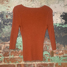 Load image into Gallery viewer, Apostrophe Orange Sweater Size Medium