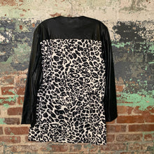 Load image into Gallery viewer, Chicos White Leopard Print Pleather Jacket Size 3
