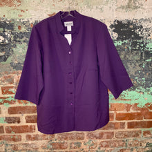 Load image into Gallery viewer, Anthony Richards Purple Button Up Blouse Size 20