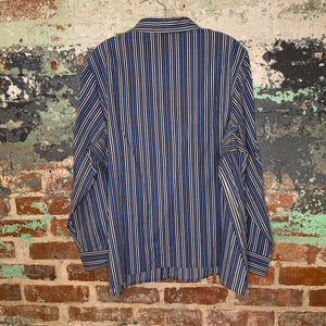Roman's Blue Striped Blouse Size X Large