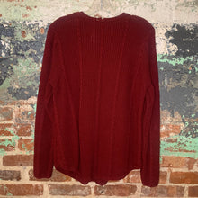 Load image into Gallery viewer, Red Cable Knit Sweater Size Medium
