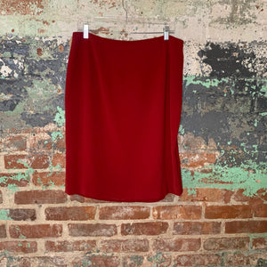 Amanda Smith Red Pencil Skirt Size 16