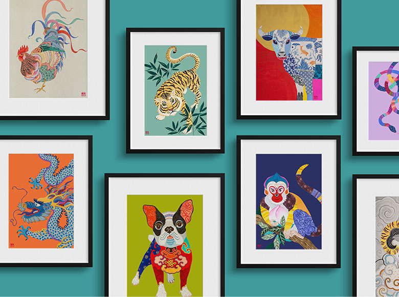 Chinese Zodiac Collection of Fine Art Prints by Artist Chris Chun