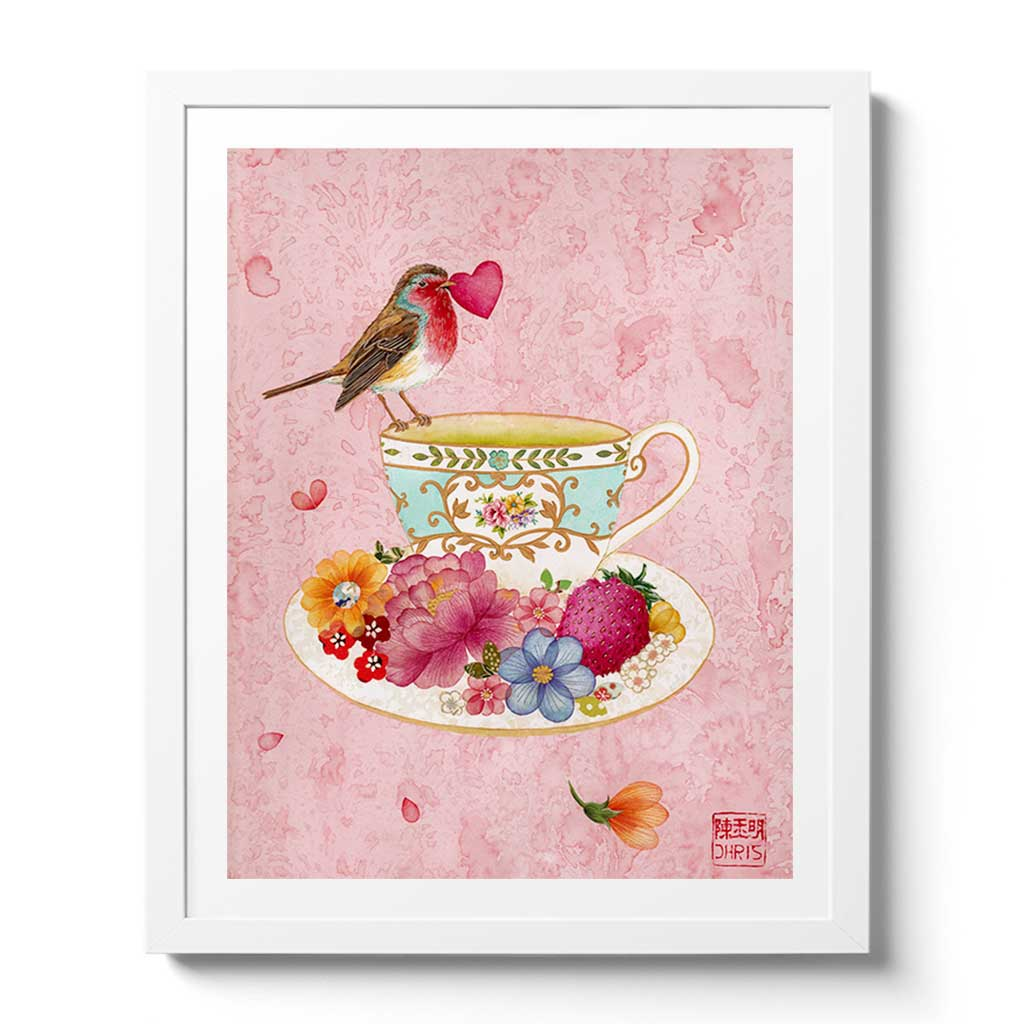 Teacup of Love Fine Art Print by Artist Chris Chun