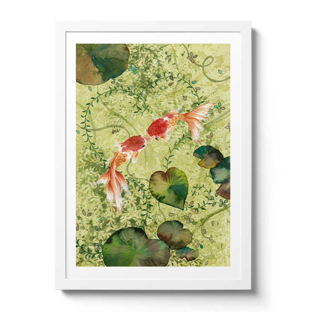 Koi Fish Fine Art Prints and Wall Decor by Australian Chinese Artist Chris Chun. Add beauty and positive feng shui to the home with Love Fish.