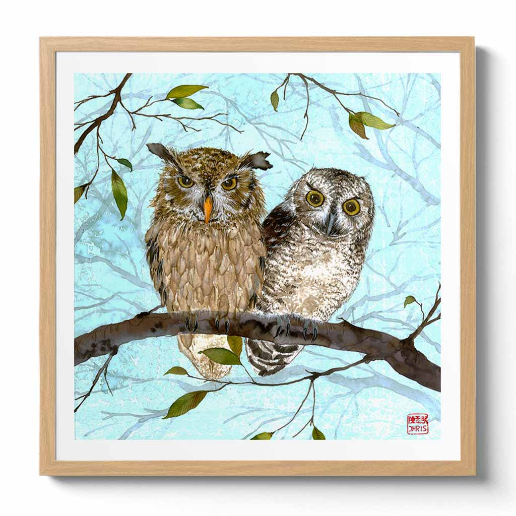 'The Owls' Fine Art Print by Artist Chris Chun