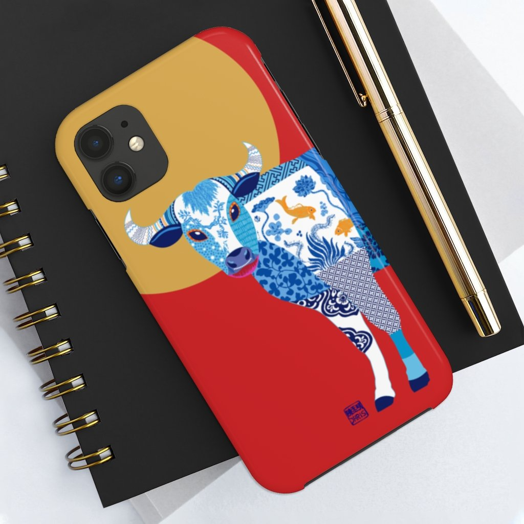 Chinese Zodiac iPhone Case and Chinese Zodiac Samsung Phone Cover featuring 12 Chinese Zodiac Animals. Impact resistant tough Chinese Astrology mobile phone case. Supports wireless charging. Designer mobile phone case made in the USA.