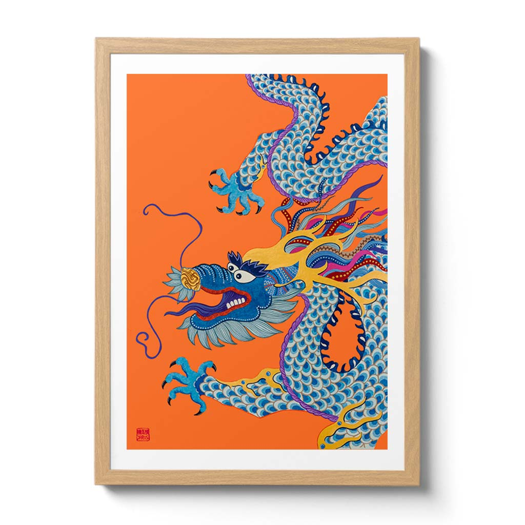 Featuring the 12 animals of the Chinese Lunar Calendar, Australian Chinese artist Chris Chun has created a colourful and whimsical series of paintings that uniquely capture the personality trait of each zodiac animal. The Dragon is the 5th animal of the Zodiac.