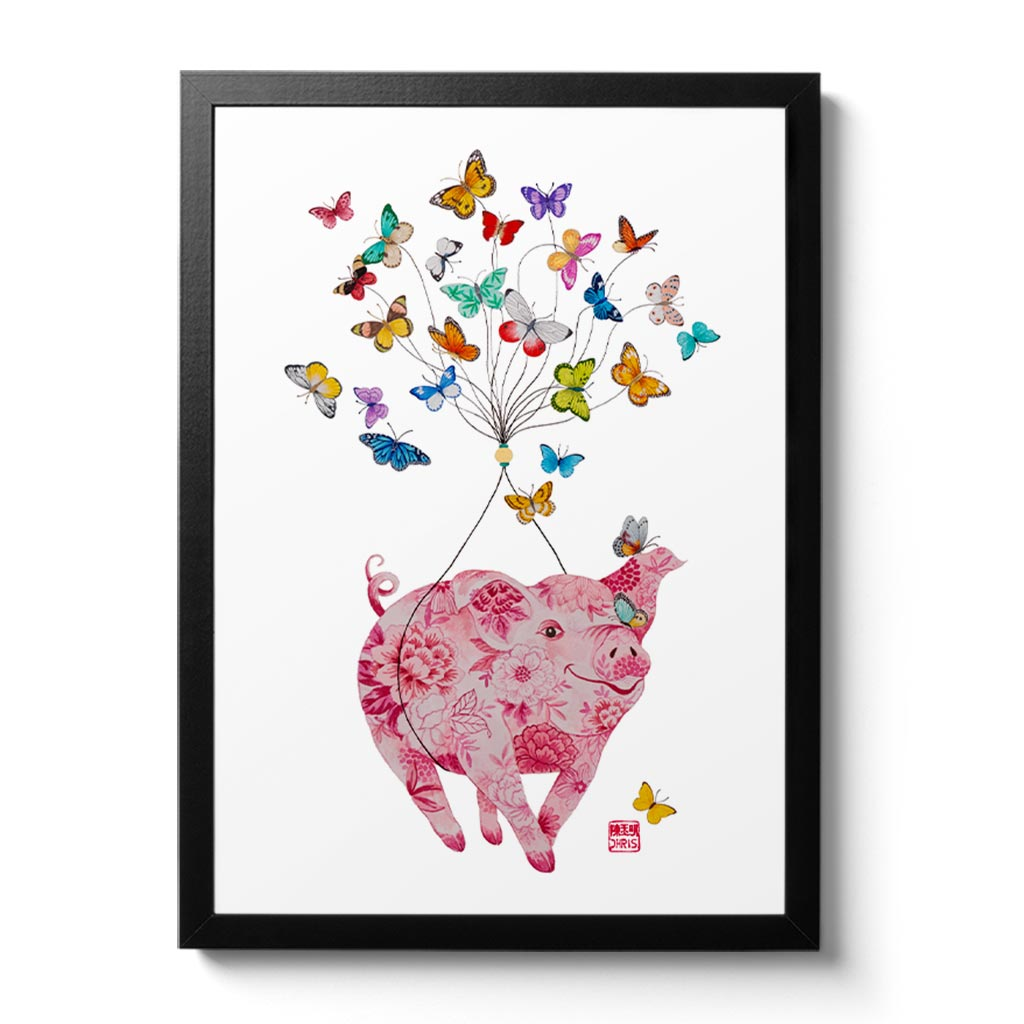 For 2019 Year of the Pig, Chris created a commemorative fine art print filled with symbols of good fortune, joy and prosperity! This print makes a gorgeous and unique gift idea for those born this year and in other pig years - 1935, 1947, 1959, 1971, 1983, 1995, 2007, 2019.
