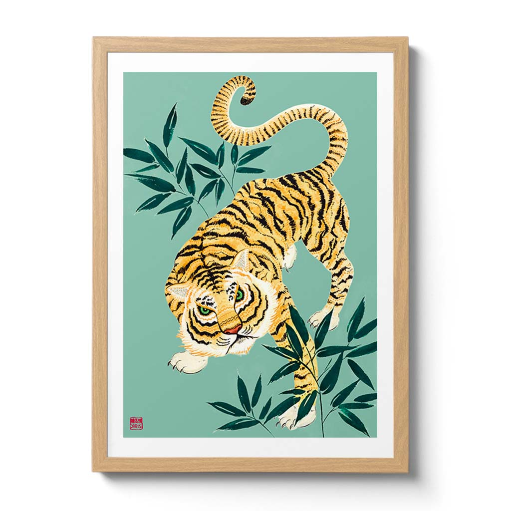 Chinese Zodiac Tiger Fine Art Print by Australian Chinese Artist Chris Chun. The perfect gift for those born in 1926, 1938, 1950, 1962, 1974, 1986, 1998, 2010, 2022 as they have been created to bring good fortune, health and prosperity to their owners!