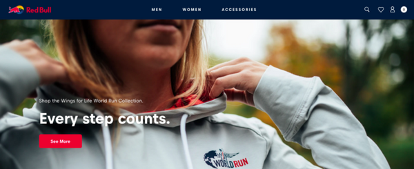 Redbull Shopify website