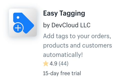 Shopify App Easy Tagging