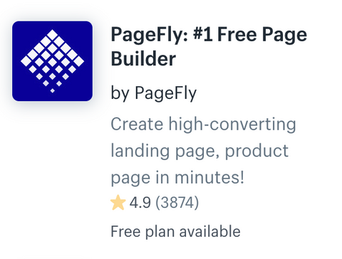 shopify pagefly app
