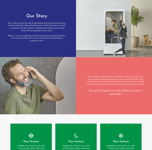 Shopify template PageFly About