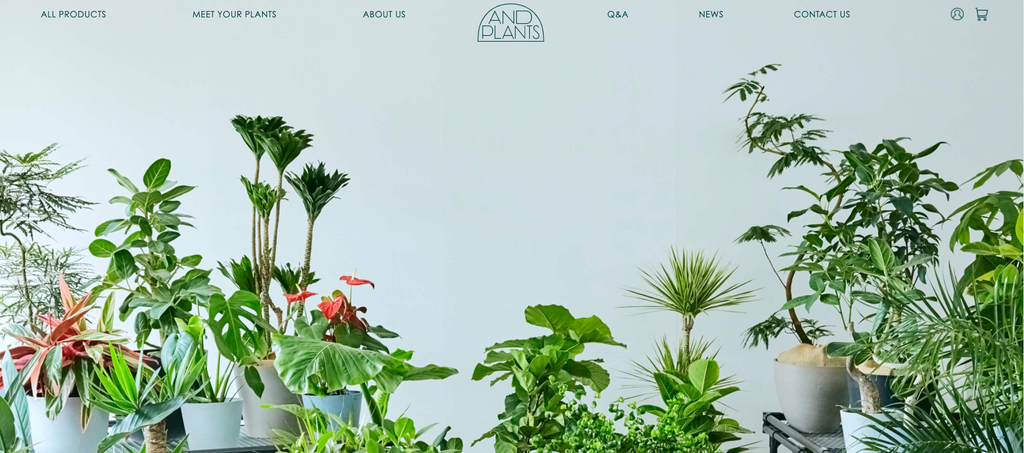 Shopify and plants トップページ 事例