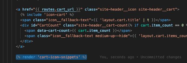shopify render snippets