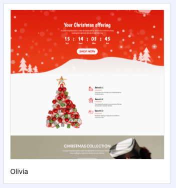 Christmas campaign LP PageFly 1