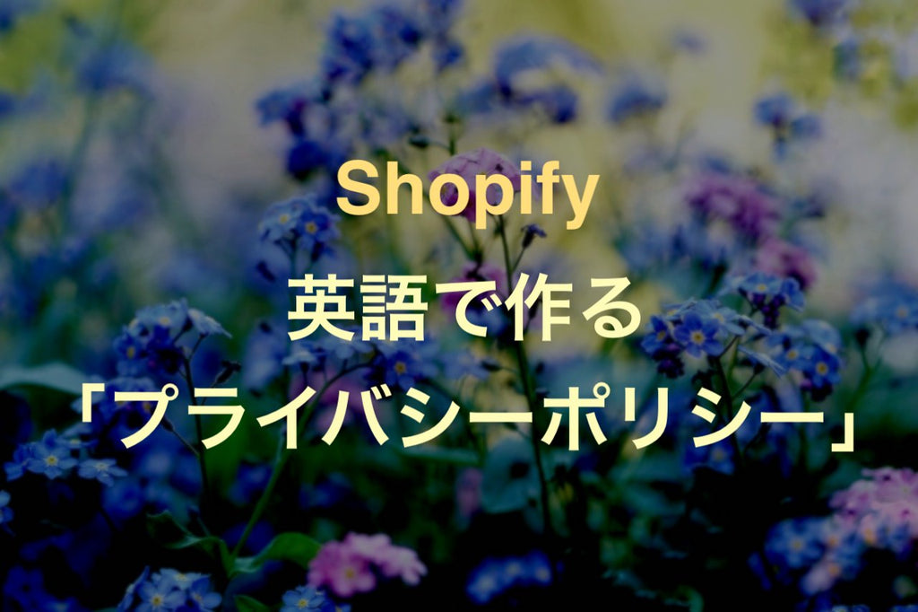 Shopify how to make Privacy policy in english