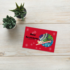 Christmas card by little hawaii me×AlohaMakana