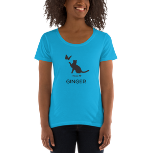 Ladies' Scoopneck T-Shirt  CUSTOMIZABLE  お名前入れ可能
