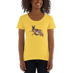 Ladies' Scoopneck  Lili da Rock Dog