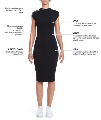 image of where to measure your body for clothing
