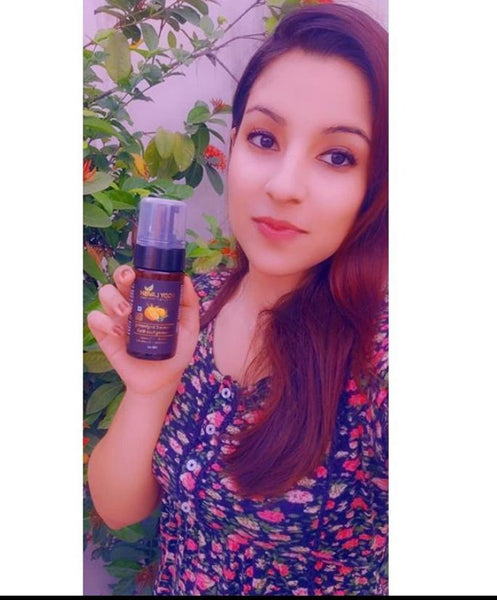 Review of Vitamin C brightening face wash by @bodylavishskincare