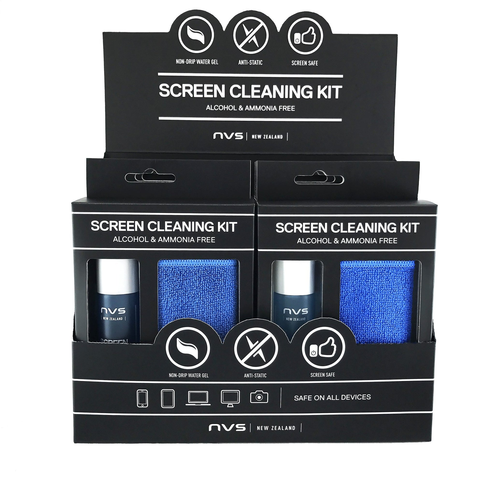 NVS Screen Cleaning Kit (30 ml) 6-Pack Counter Display