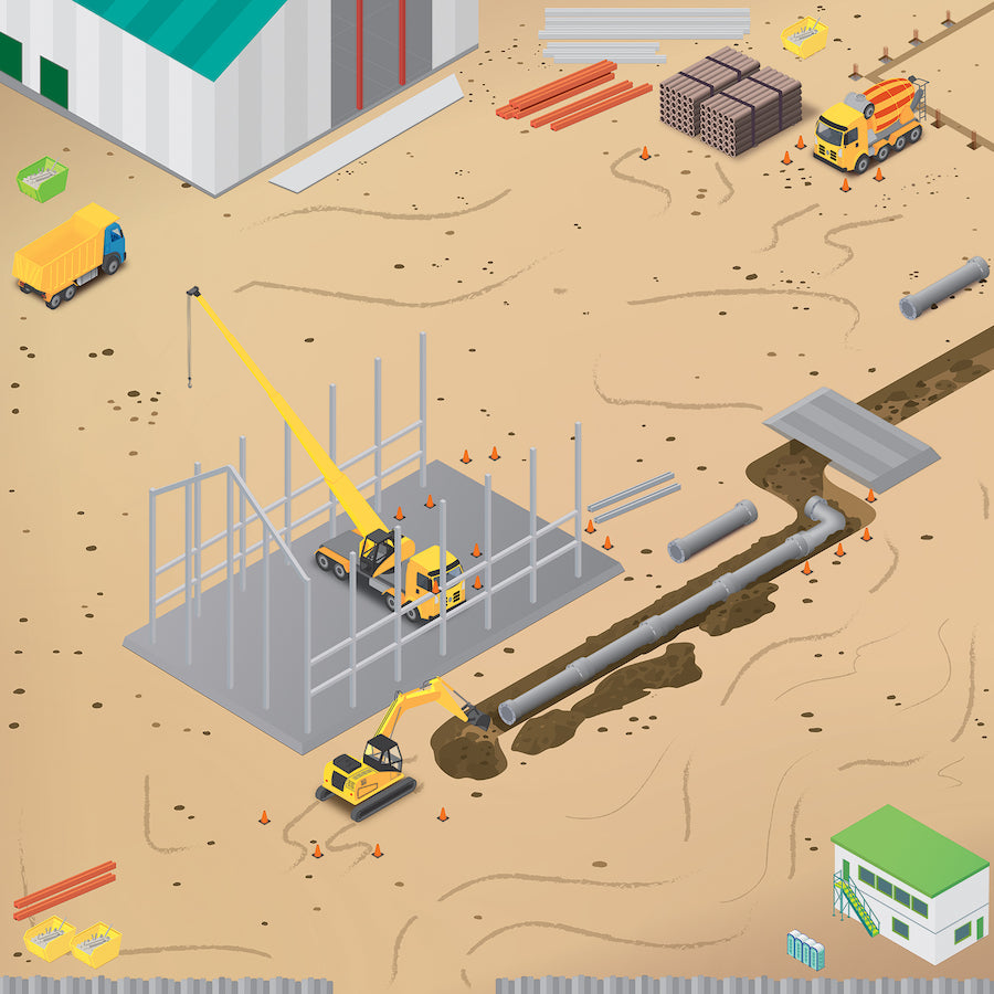 Rugged Robot Construction site Mat